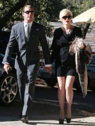 Gwen Stefani and her husband Gavin Rossdale attend a wedding in Simi Valley,
