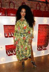 Kelis wears Vivienne Westwood - Launch Party to Celebrate Virgin Atlantic's New Vivienne Westwood Uniform Collection