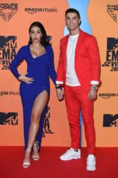 Georgina Rodriguez and Cristiano Ronaldo: MTV EMAs 2019 - Red Carpet Arrivals