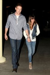 Lea Michele with Cory Monteith: showed up at the ArcLight Cinemas in Hollywood