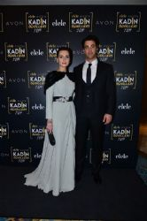 Birce Akalay and Sarp Levendoglu:  attends Elele & Avon Women's Awards