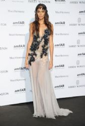 Joan Smalls wears Versace - 2015 Amfar Paris