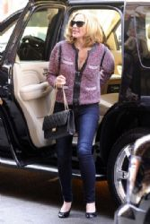 Kim Cattrall: arrives in style in Tribeca New York