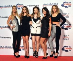 Sarah Harding and Cheryl Cole: at the Capital FM Jingle Bell Ball held at the O2 Arena in London, England