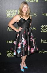 Sasha Pieterse wears Honor - The Hollywood Foreign Press Association  & Instyle Celebrate The 2015 Golden Globe Award Season