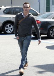 Jonathan Rhys Meyers Leaves a Grocery STore