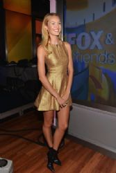 Candice Swanepoel visits 'FOX & Friends' at FOX Studios