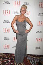 Jenna Jameson seen hosting an evening at the Tabu Ultra Lounge at the MGM Hotel and Casino, Las Vegas