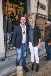 Zeta Makrypoulia and Michalis Hatzigiannis: store opening