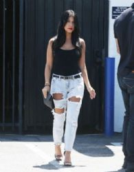 Kourtney Kardashian: at a studio in Los Angeles