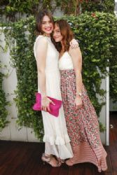 Mandy Moore: pose for a photo at an event where Minka Kelly launches a bag line with fashionABLE to create jobs for women in Africa at Mondrian Los Angeles