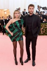 Miley Cyrus and Liam Hemsworth:  The 2019 Met Gala Celebrating Camp: Notes On Fashion - Arrivals