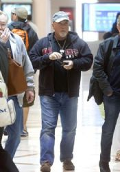 Billy Joel prepares to depart LAX (Los Angeles International Airport)