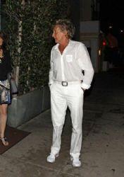 Rod Stewart leaving the Il Ristorante di Giorgio Baldi in Santa Monica