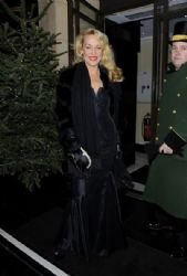 Jerry Hall at the Dorchester Hotel