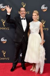 Jerry Seinfeld and Jessica Seinfeld: 68th Annual Primetime Emmy Awards - Arrivals