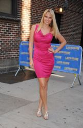 Genevieve Morton at the 'Late Show With Dave Letterman'
