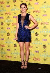 Actress Lucy Hale, winner of the Choice TV Actress: Drama award for Pretty Little Liars, poses in the press room during the Teen Choice Awards 2015 at the USC Galen Center on August 16, 2015 in Los Angeles, California