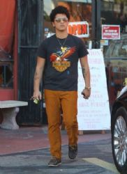 Bruno Mars out shopping at Jet Rag in West Hollywood