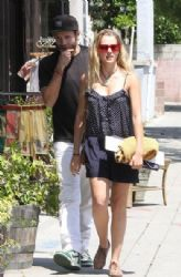 Teresa Palmer and her boyfriend Mark Webber leaving The Punchbowl in Los Feliz, California on May 10, 2013