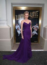 Rebecca Romijn wears Vera Wang - 'Living On Love' Broadway Opening Night