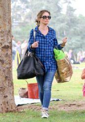 Rebecca Gayheart is seen in Los Angeles, CA