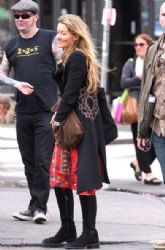 Natascha McElhone: to the set of Californication in West Village