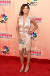 Jessica Szohr: attends the 2015 iHeartRadio Music Awards which broadcasted live on NBC from The Shrine Auditorium