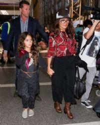 Salma Hayek and Daughter Valentina Paloma Pinault Hit LAX