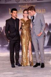"Robert Pattinson, Kristen Stewart, and Taylor Lautner: ""The Twilight Saga: Breaking Dawn Part 2"" stars stopped in Berlin"