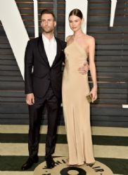 Adam Levine and Behati Prinsloo: 2015 Vanity Fair Oscar Party