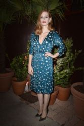Jessica Chastain in Prada dress : Prada Private Dinner - The 70th Annual Cannes Film Festival