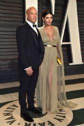 Vin Diesel and Paloma Jimenez: 2017 Vanity Fair Oscar Party Hosted By Graydon Carter - Arrivals