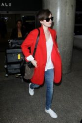 Lily Collins: at LAX