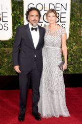 Alejandro Gonzalez Inarritu and Maria Eladia Hagerman: 72nd Annual Golden Globe Awards 2015- Arrivals