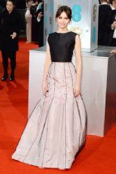 Felicity Jones wears Christian Dior - 2015 British Academy Film Awards