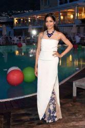 Freida Pinto wears Marios Schwab - Ischia Global Film & Music 2014