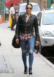 Paula Patton is spotted out for a stroll in New York City