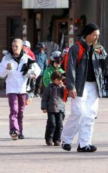 LeAnn Rimes and Eddie Cibrian spent the day skiing with little Mason and Jake in Aspen, Colorado on Tuesday (December 27)