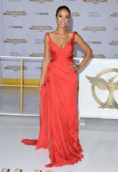 Meta Golding wears Rani Zakhem - 'The Hunger Games - Mockingjay, Part 1' LA Premiere
