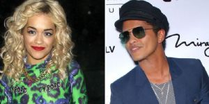 Rita Ora and Bruno Mars
