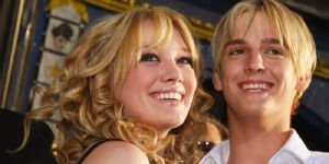 Aaron Carter and Hilary Duff