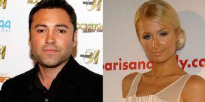 Paris Hilton and Oscar De La Hoya