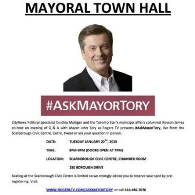 #AskMayorTory Town Hall