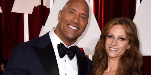Lauren Hashian and Dwayne Johnson