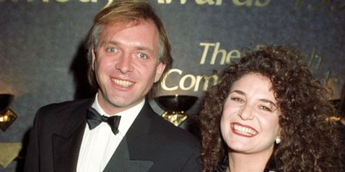 Rik Mayall and Barbara Robbin