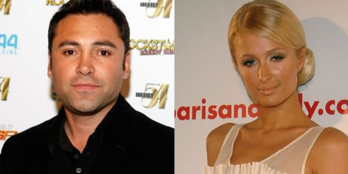 Paris Hilton and Oscar De La Hoya