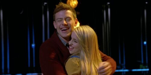 Cory Monteith and Dianna Agron