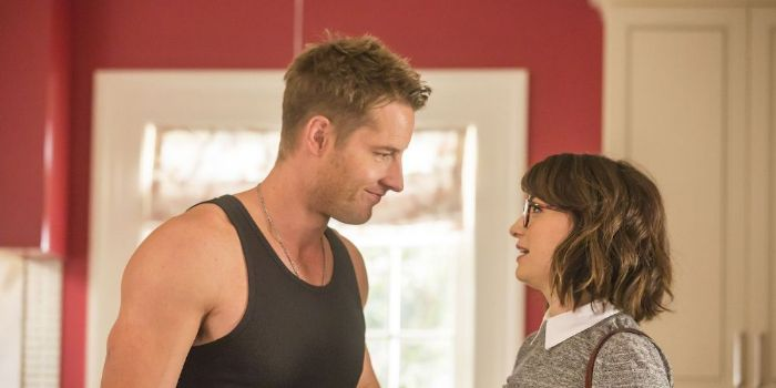 Milana Vayntrub and Justin Hartley