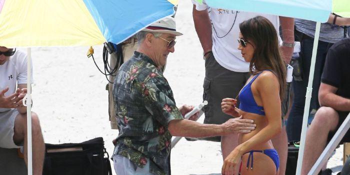 Aubrey Plaza and Robert De Niro